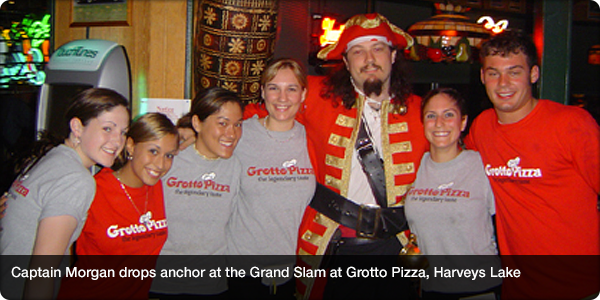 Captain Morgan drops anchor at the Grand Slam at Grotto Pizza, Harveys Lake