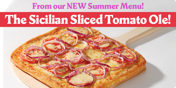 From our NEW Summer Menu! The Sicilian Sliced Tomato Ole!